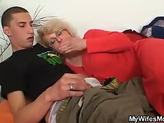 wife finds him pulverizing her old mom and gets wild