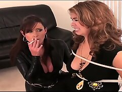 lady tied to chair by domina