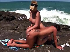 Best Holiday of their lives she said: Big Tits Lesbians Sex