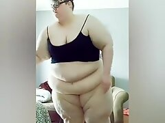 Ssbbw tries On Crotchless underpants and Lace Panties