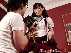 Cosplay japanese newhalf assfucked doggystyle